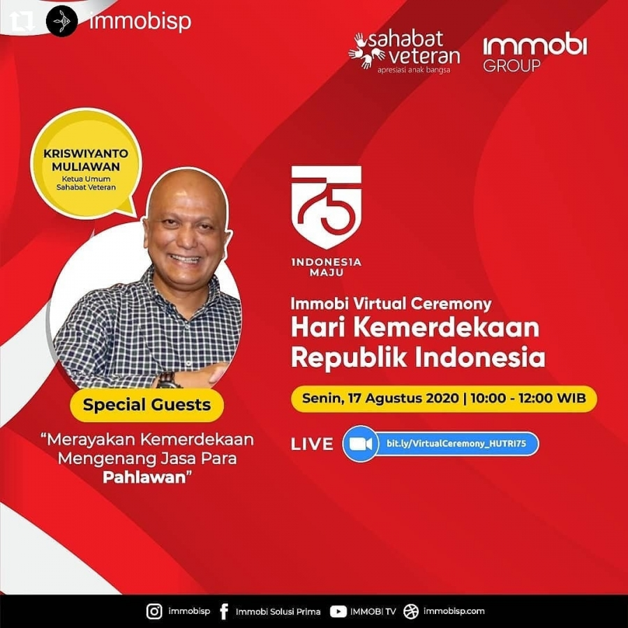 Virtual Ceremony HUT RI ke-75 bersama Bapak Kriswiyanto