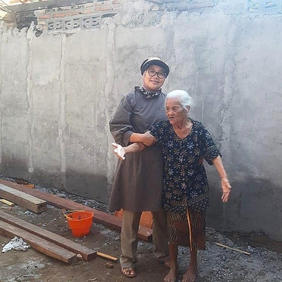 30/4/21 Perkembangan Bedah Rumah Veteran rumah Mbah Kasikem