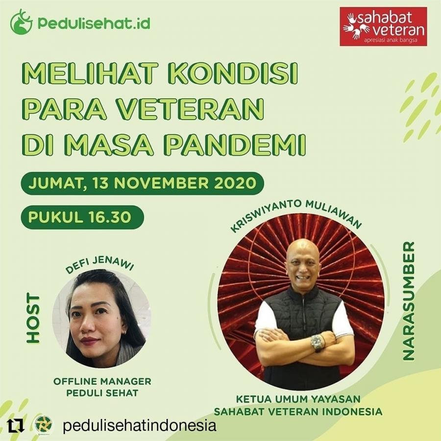 13/11/20 Kepedulian Peduli Sehat Indonesia kepada Veteran Indonesia