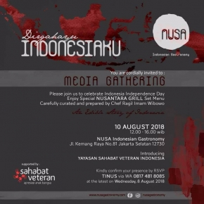 10/8/18 Media Gathering Celebrating Indonesia Independence Day