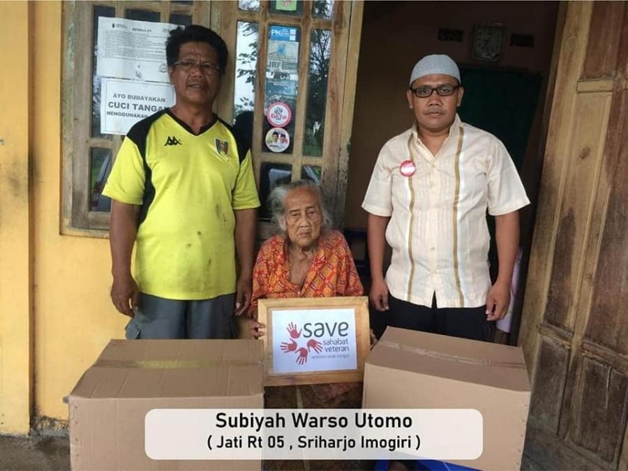 22/1/21 Gelombang II #BisaBantuJandaVeteran, kerjasama dengan Kitabisa.com di Yogyakarta